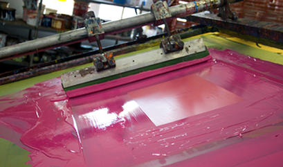Screen Printing with UV LED