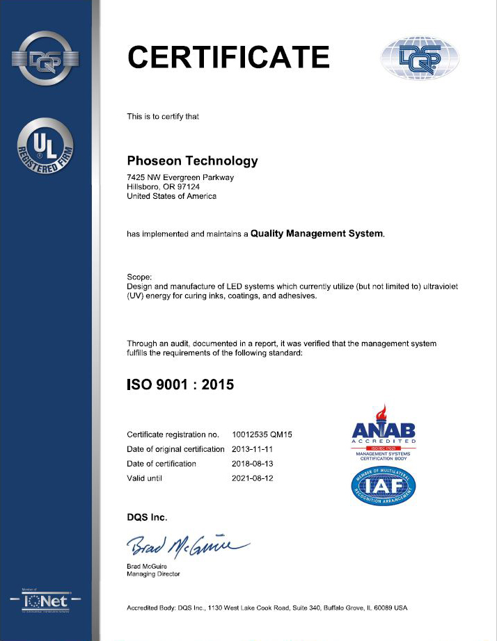 Certification ISO 9001: 2015